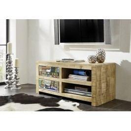TV stolík #50, liatina a mangové drevo