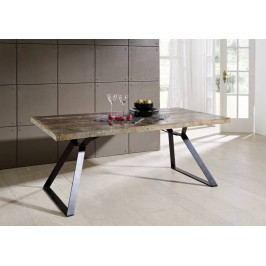 jedálenský stôl #13, liatina a staré drevo