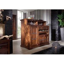 Koloniálny bar, masívne akáciové drevo