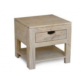 nočný stolík maľovaný akáciový nábytok