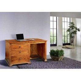 HONEY písací stôl masívna akácia, medová