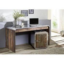 PLAIN SHEESHAM písací stôl olejovaný indický palisander, sivá