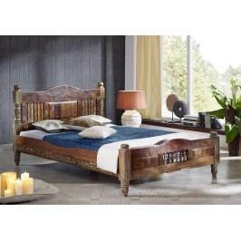 COLORES posteľ - 140x200cm lakované staré indické drevo