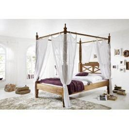 Sheesham posteľ 180x200, masívne palisandrové drevo