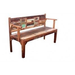 OLDTIME lavica lakované staré indické drevo