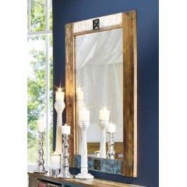 OLDTIME zrkadlo - 120x80cm lakované staré indické drevo