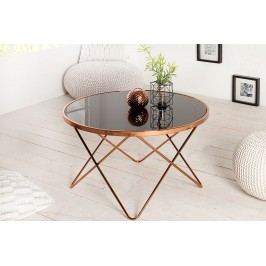 Príručný stolík PUNT 85 cm - medená/čierna