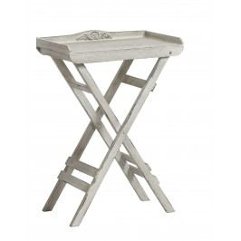 Skladací stolík TRIDET - biela