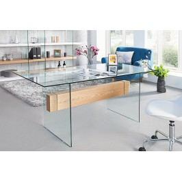 Písací stôl ANEX 160 cm - číra/prírodná