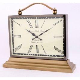 Stolové hodiny INDUSTRIAL - hnedá