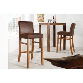 Barová stolička VALENS VINTAGE - svetlá káva