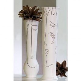 Váza ART 60 cm - krémová/biela