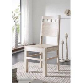 Stolička, šesť set, maľovaný akácia