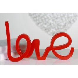 Dekorácia LOVE - červená