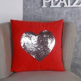 Vankúš HEART - červená