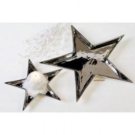 Dekoratívna miska STAR - strieborná
