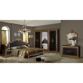 Spálňa JENNIFO BROWN - zlatá, hnedá