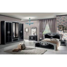 Spálňa ROMI - čierna, strieborná