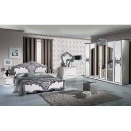 Spálňa EVO - strieborná, bianco