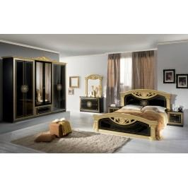Spálňa ROMI - čierna, zlatá