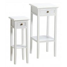 Set 2 ks toaletných stolíkov JENS - biela