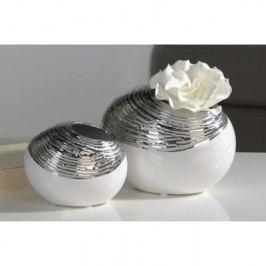 Váza ZARO SMALL - biela, strieborná