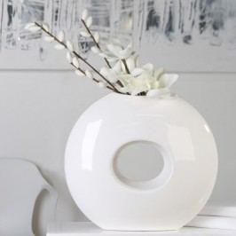 Váza DONAT - biela