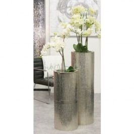 Kvetináč STEMPS, 79 cm - strieborná
