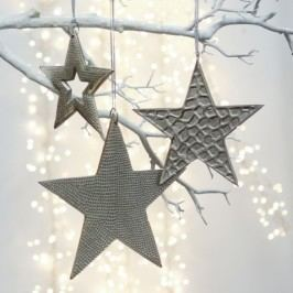 Ozdoba hviezda TREO - strieborná