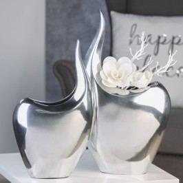 Váza ABSTROCT, 50 cm - strieborná