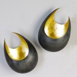 Nástenný svietnik MON, 26 cm - zlatá