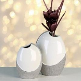 Váza PROME, 19 cm - biela