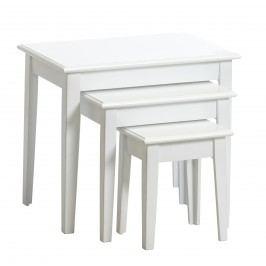 Sada stolíkov AMANDA - biela