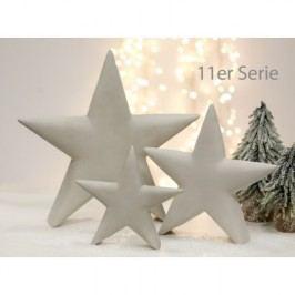 Dekorácia hviezda FJOR, 40 cm - sivá