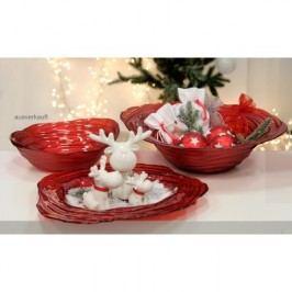Dekoratívny tanier ORGANI, 44 cm - červená