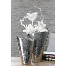 Váza COSTELO, 33 cm - strieborná