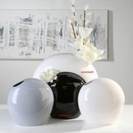 Váza LASON, 27 cm - biela