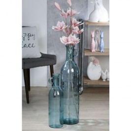Váza FAMIK 50 cm - priehľadná modrá