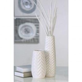 Váza TEO, 34 cm - biela