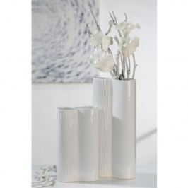 Váza CARVI, 35,50 cm - biela