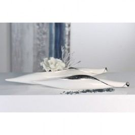 Váza LEA, 47 cm - biela