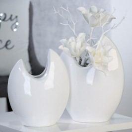 Váza ALO, 33 cm - biela