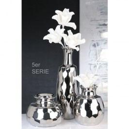 Váza SQUAR, 19,50 cm - strieborná