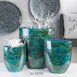 Váza AZUR, 31 cm - modrá