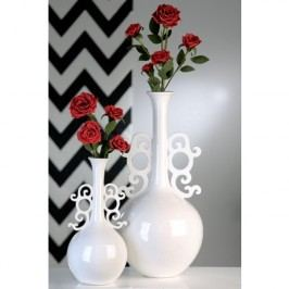 Váza BAROK, 60 cm - biela