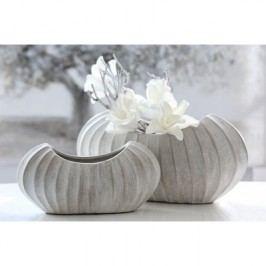 Váza CROSE 22 cm - sivá