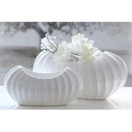 Váza CROSE 17 cm - biela