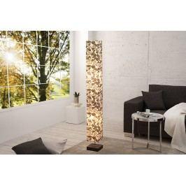 Stojaca lampa PARIS FLORAL 125 cm - čiernobiela