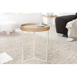 Konferenčný stolík MODUL 40 cm - biela, prírodná
