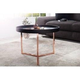Konferenčný stolík MODUL 60 cm - čierna, medená